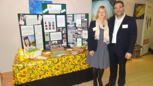 Carol and Pete manning the Trust Stall